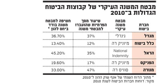 מבטח המשנה העיקרי של קבוצות הביטוח הגדולות ב 2010